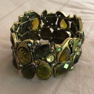 Green and gold Lia Sophia bracelet